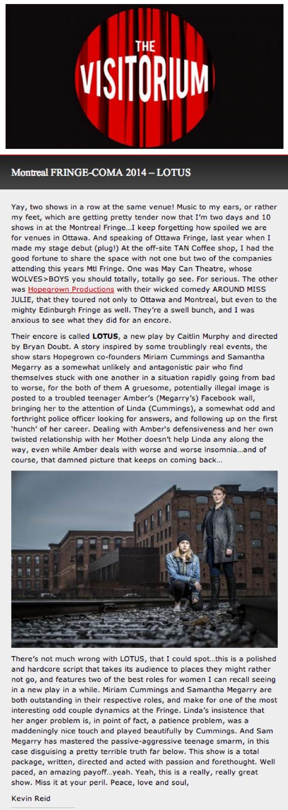 Hopegrown Productions — 2014 — Lotus
